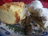 The very last of Mamaw's pound cake and the three-layer fig cake.