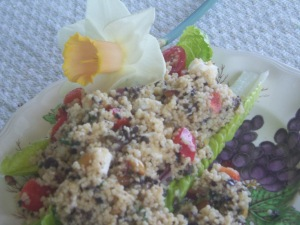 Easy to put together, this couscous salad makes 10 servings -- enough for several lunchboxes.