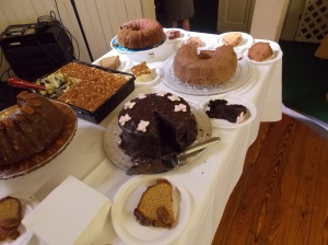 A portion of the cake table.