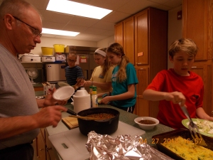 Chili and cornbread with our church youth group